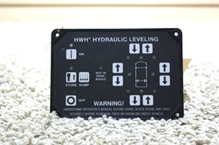 USED HWH RV HYDRAULIC LEVELING TOUCH PAD AP31351 MOTORHOME PARTS FOR SALE