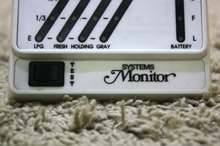 KIB SYSTEMS MONITOR USED RV TANK MONITOR PANEL FOR SALE