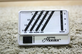 KIB TANK MONITOR PANEL USED MOTORHOME SYSTEMS MONITOR FOR SALE