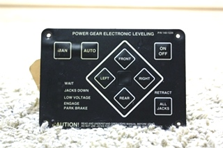USED RV POWER GEAR ELECTRIC LEVELING CONTROL TOUCH PAD 140-1226 FOR SALE