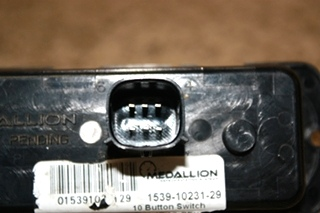 USED RV MEDALLION 10 BUTTON SWITCH 1539-10231-29 MOTORHOME PARTS FOR SALE
