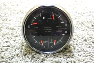 USED MOTORHOME 4 IN 1 MEDALLION DASH GAUGE 8653-50006-29 FOR SALE