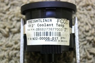 USED RV FREIGHTLINER COOLANT TEMPERATURE GAUGE W22-00006-017 FOR SALE