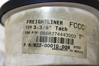 USED FREIGHTLINER CUSTOM CHASSIS RV TACHOMETER W22-00010-008 FOR SALE