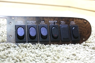 USED RV DASH SWITCH PANEL FOR SALE