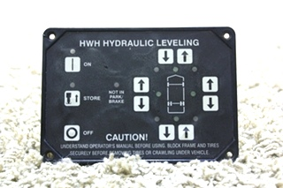 USED HWH RV HYDRAULIC LEVELING CONTROL TOUCH PAD AP10215 FOR SALE