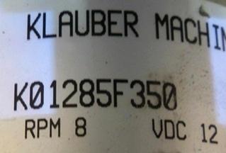 USED KLAUBER SLIDE OUT MOTOR P/N K01285F350 FOR SALE