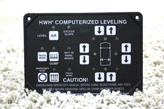 USED MOTORHOME HWH COMPUTERIZED LEVELING TOUCH PAD AP33925 FOR SALE