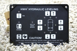 USED RV HWH HYDRAULIC LEVELING TOUCH PAD AP20007 FOR SALE