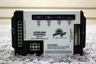 USED POWER GEAR LEVELING CONTROL BOARD 500457 RV PARTS FOR SALE