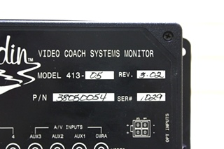 USED ALADDIN VIDEO COACH SYSTEMS MONITOR 38050054 RV PARTS FOR SALE