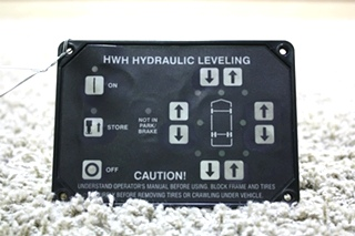 USED HWH HYDRAULIC LEVELING TOUCH PAD AP10215 RV PARTS FOR SALE