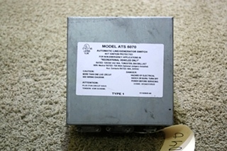 USED RV AUTOMATIC LINE / GENERATOR SWITCH ATS 5070 FOR SALE