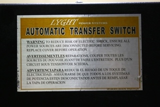 USED LYGHT POWER SYSTEM MOTORHOME AUTOMATIC TRANSFER SWITCH LPT50-MRD FOR SALE