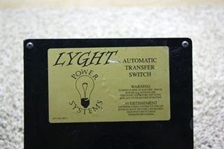 USED MOTORHOME LYGHT POWER SYSTEMS AUTOMATIC TRANSFER SWITCH LPT50-BRD FOR SALE