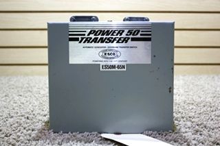 USED POWER 50 TRANSFER AUTOMATIC GENERATOR-SHORELINE TRANSFER SWITCH ES50M-65N FOR SALE