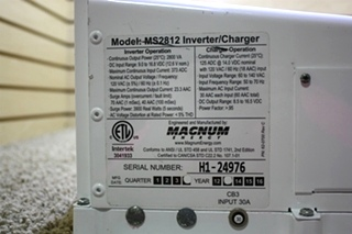 USED MAGNA SINE MAGNUM ENERGY INVERTER CHARGER MS2812 RV PARTS FOR SALE