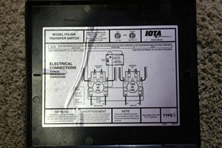 USED IOTA ITS-50R AUTOMATIC TRANSFER SWITCH RV PARTS FOR SALE