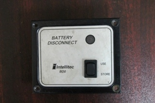 USED INTELLITEC BATTERY DISCONNECT SWITCH PANEL BD0 BLACK PN: 01-00066-004