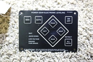 USED POWER GEAR ELECTRONIC LEVELING TOUCH PAD 500629 MOTORHOME PARTS FOR SALE