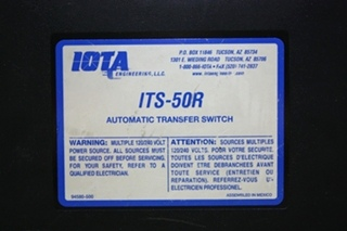 USED MOTORHOME IOTA ITS-50R AUTOMATIC TRANSFER SWITCH FOR SALE