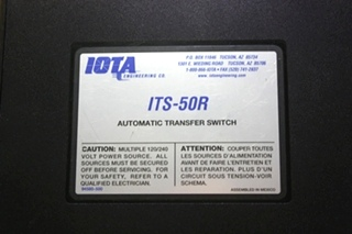 USED IOTA AUTOMATIC TRANSFER SWITCH MODEL: ITS-50R RV/MOTORHOME PARTS FOR SALE