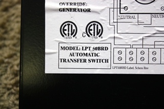 USED LYGHT POWER SYSTEMS LPT50BRD MOTORHOME AUTOMATIC TRANSFER SWITCH FOR SALE