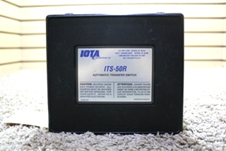 USED IOTA ENGINEERING AUTOMATIC TRANSFER SWITCH ITS-50R MOTORHOME PARTS FOR SALE