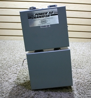 USED POWER 50 TRANSFER RV ES50M-65N AUTOMATIC GENERATOR -SHORELINE TRANSFER SWITCH FOR SALE