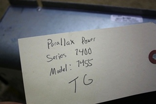 USED RV PARALLAX POWER COMPONENTS CONVERTER CHARGER MODEL: 7455 FOR SALE