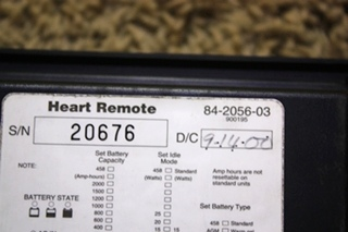 USED 84-2056-03 HEART INTERFACE INVERTER CHARGER REMOTE RV PARTS FOR SALE