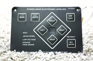 USED MOTORHOME POWER GEAR ELECTRONIC LEVELING TOUCH PAD FOR SALE