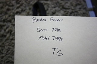 USED RV PARALLAX POWER COMPONENTS 55 AMP CONVERTER CHARGER MODEL: 7455 FOR SALE