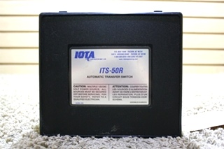 USED IOTA RV AUTOMATIC TRANSFER SWITCH ITS-50R MOTORHOME PARTS FOR SALE