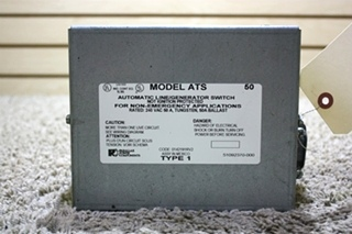 USED PARALLAX POWER COMPONENTS ATS 50 AUTOMATIC LINE/GENERATOR SWITCH RV PARTS FOR SALE
