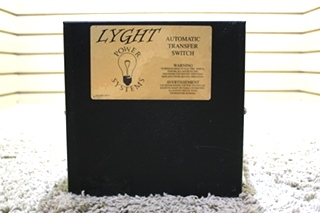 USED LYGHT POWER SYSTEMS MOTORHOME AUTOMATIC TRANSFER SWITCH LPT50CA FOR SALE