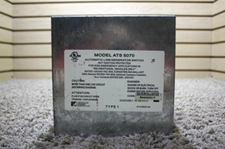 USED RV PARALLAX POWER SUPPLY ATS 5070 AUTOMATIC LINE/GENERATOR SWITCH FOR SALE