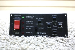 USED RV DEWALD LEVELING CONTROL TOUCH PAD DN12783 FOR SALE