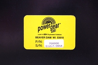 USED POWER GEAR BATTERY CONTROL CENTER PN: 700000 FOR SALE