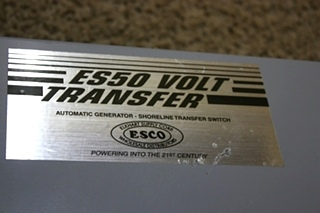 USED ES50 VOLT TRANSFER AUTOMATIC GENERATOR - SHORELINE TRANSFER SWITCH WITH VOLTAGE SURGE SUPPRESSOR MOTORHOME PARTS FOR SALE