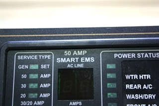 USED 50 AMP SMART EMS DISPLAY BY INTELLITEC 00-00684-100 MOTORHOME PARTS FOR SALE
