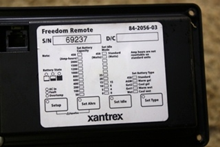 USED XANTREX FREEDOM 84-2056-03 REMOTE MOTORHOME PARTS FOR SALE