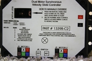USED RV DUAL MOTOR SYNCHRONOUS VELOCITY SLIDE CONTROLLER 13398-C2 FOR SALE