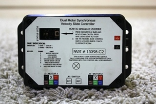 USED 13398-C2 DUAL MOTOR SYNCHRONOUS VELOCITY SLIDE CONTROLLER RV PARTS FOR SALE