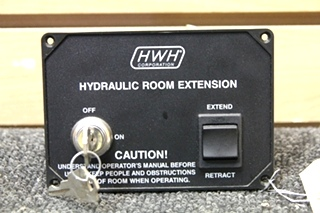 USED RV/MOTORHOME HWH CORP. HYDRAULIC ROOM EXTENSION W/ KEY PN: AP11599
