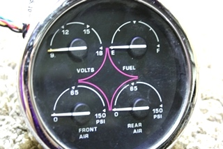 USED SPARTAN 4 IN 1 00041370DASH GAUGE RV PARTS FOR SALE