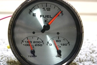 USED RV 3 IN 1 DASH GAUGE 945878-112202 FOR SALE