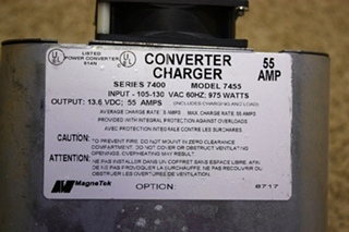 USED MOTORHOME MAGNETEK SERIES 7400 55 AMP CONVERTER CHARGER FOR SALE