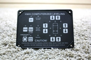 USED RV HWH COMPUTERIZED LEVELING TOUCH PAD AP22703 FOR SALE