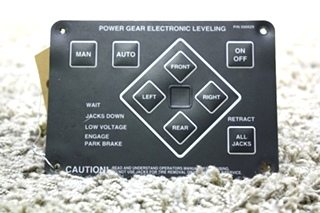 USED RV POWER GEAR ELECTRONIC LEVELING TOUCH PAD 500629 FOR SALE
